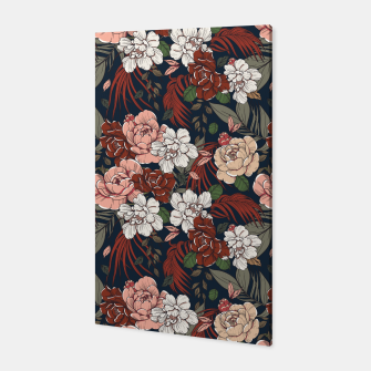 Thumbnail image of Dark floral vintage Canvas, Live Heroes