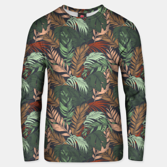 Miniatur Palm leaves at night Sudadera unisex, Live Heroes