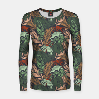 Miniatur Palm leaves at night Sudadera para mujeres, Live Heroes
