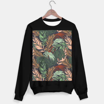 Miniatur Palm leaves at night Sudadera regular, Live Heroes