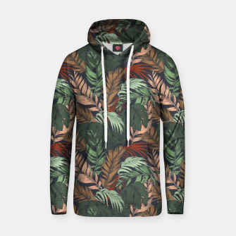 Miniatur Palm leaves at night Sudadera con capucha, Live Heroes
