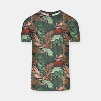 Miniatur Palm leaves at night Camiseta, Live Heroes