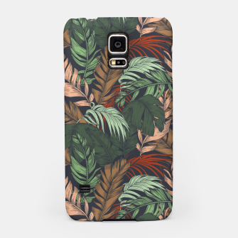 Miniatur Palm leaves at night Carcasa por Samsung, Live Heroes