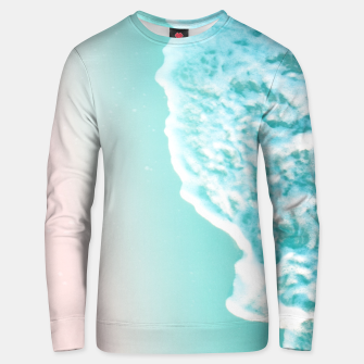 Turquoise Blush Ocean Dream #1 #water #decor #art  Unisex sweatshirt obraz miniatury