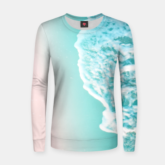 Turquoise Blush Ocean Dream #1 #water #decor #art  Frauen sweatshirt obraz miniatury