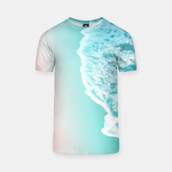 Miniatur Turquoise Blush Ocean Dream #1 #water #decor #art  T-Shirt, Live Heroes