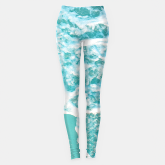 Turquoise Blush Ocean Dream #1 #water #decor #art  Leggings obraz miniatury