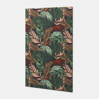 Miniature de image de Palm leaves at night Canvas, Live Heroes