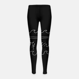 Thumbnail image of Surf Vibes Typo Girl's leggings, Live Heroes