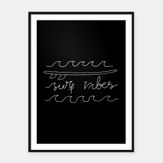Thumbnail image of Surf Vibes Typo Framed poster, Live Heroes