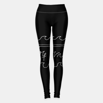 Thumbnail image of Surf Vibes Typo Leggings, Live Heroes