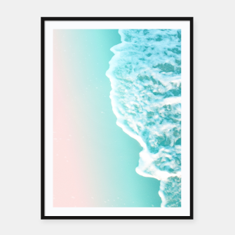 Turquoise Blush Ocean Dream #1 #water #decor #art  Plakat mit rahmen obraz miniatury