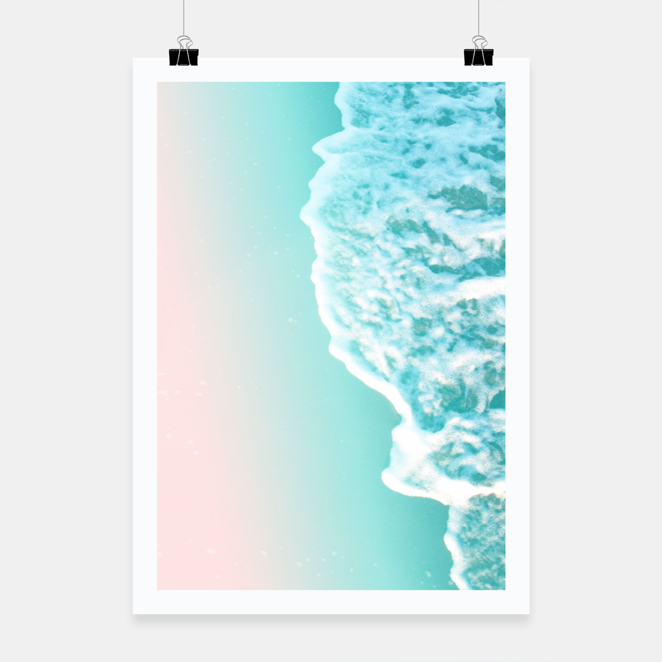 Zdjęcie Turquoise Blush Ocean Dream #1 #water #decor #art  Plakat - Live Heroes