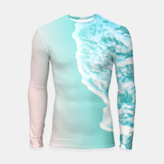 Thumbnail image of Turquoise Blush Ocean Dream #1 #water #decor #art  Longsleeve rashguard, Live Heroes