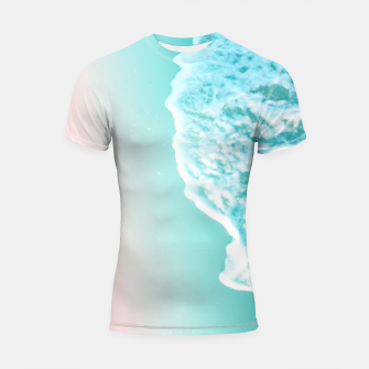 Turquoise Blush Ocean Dream #1 #water #decor #art  Shortsleeve rashguard obraz miniatury