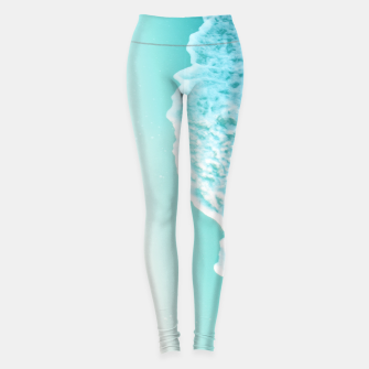 Miniatur Turquoise Blush Ocean Dream #1 #water #decor #art  Leggings, Live Heroes