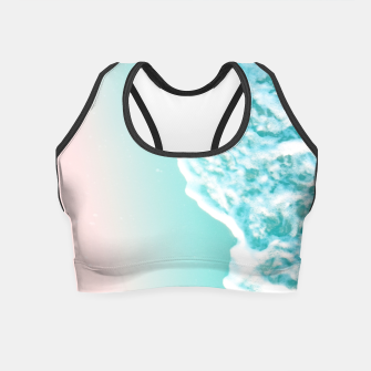 Thumbnail image of Turquoise Blush Ocean Dream #1 #water #decor #art  Crop Top, Live Heroes