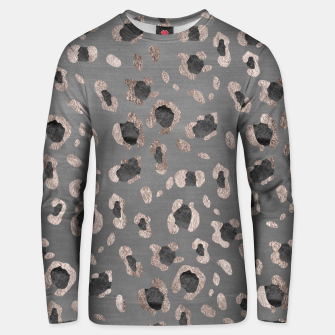 Leopard Animal Print Glam #6 #shiny #pattern #decor #art Unisex sweatshirt obraz miniatury