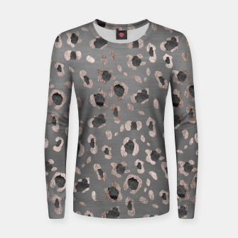 Leopard Animal Print Glam #6 #shiny #pattern #decor #art Frauen sweatshirt obraz miniatury