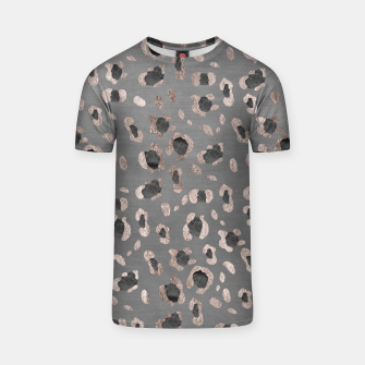 Leopard Animal Print Glam #6 #shiny #pattern #decor #art T-Shirt imagen en miniatura