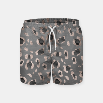 Leopard Animal Print Glam #6 #shiny #pattern #decor #art Badeshorts imagen en miniatura