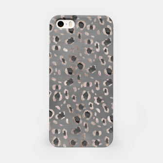 Leopard Animal Print Glam #6 #shiny #pattern #decor #art iPhone-Hülle obraz miniatury