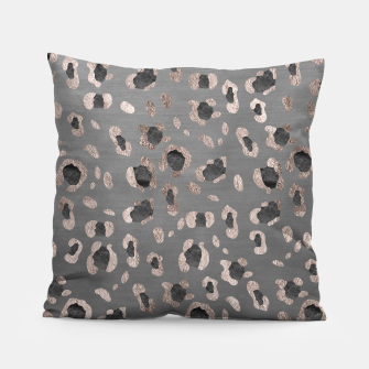 Leopard Animal Print Glam #6 #shiny #pattern #decor #art Kissen imagen en miniatura