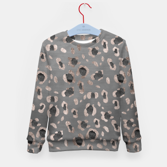 Leopard Animal Print Glam #6 #shiny #pattern #decor #art Kindersweatshirt imagen en miniatura