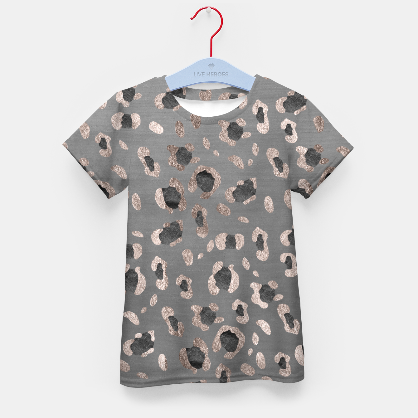 Zdjęcie Leopard Animal Print Glam #6 #shiny #pattern #decor #art T-Shirt für kinder - Live Heroes