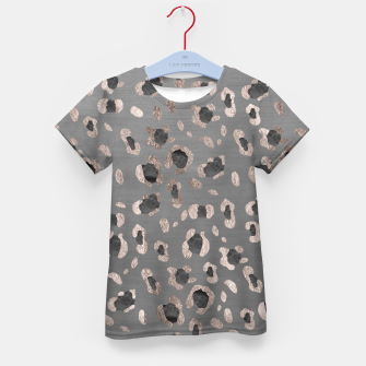 Leopard Animal Print Glam #6 #shiny #pattern #decor #art T-Shirt für kinder obraz miniatury