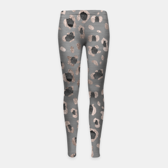 Miniaturka Leopard Animal Print Glam #6 #shiny #pattern #decor #art Kinder-Leggins, Live Heroes