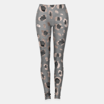 Leopard Animal Print Glam #6 #shiny #pattern #decor #art Leggings obraz miniatury