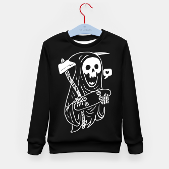 Thumbnail image of Grim Skater Kid's sweater, Live Heroes