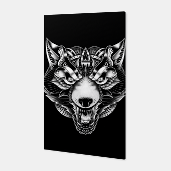 Miniaturka Angry Wolf Ornate Canvas, Live Heroes