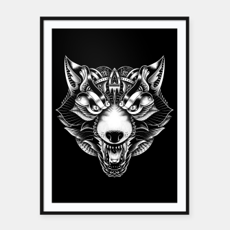 Miniaturka Angry Wolf Ornate Framed poster, Live Heroes