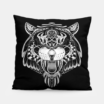 Miniatur Tiger Ornate Pillow, Live Heroes