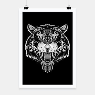 Miniatur Tiger Ornate Poster, Live Heroes