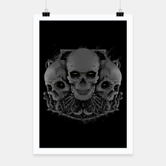 Thumbnail image of 3 Skull Poster, Live Heroes