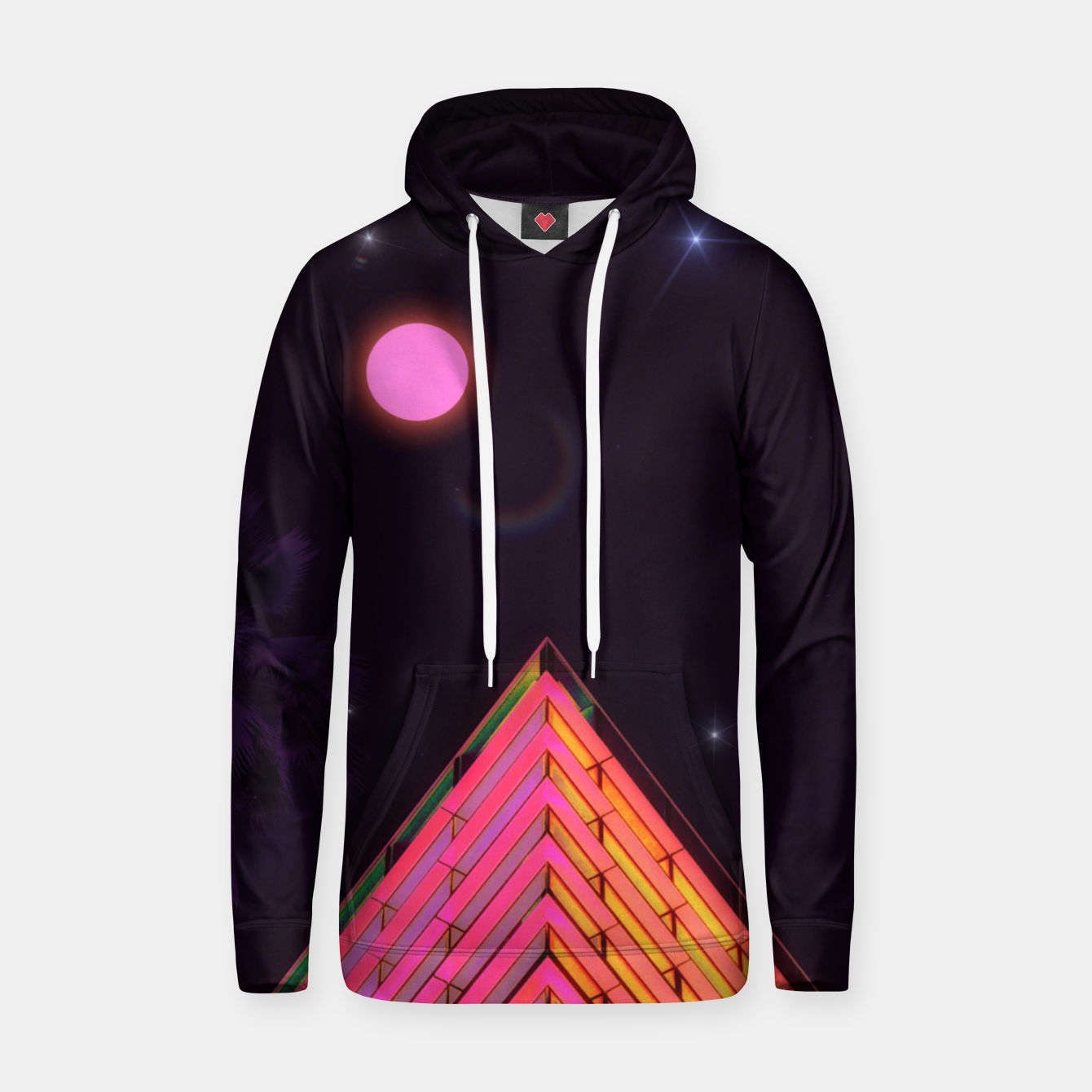Image of Pink Night Hoodie - Live Heroes