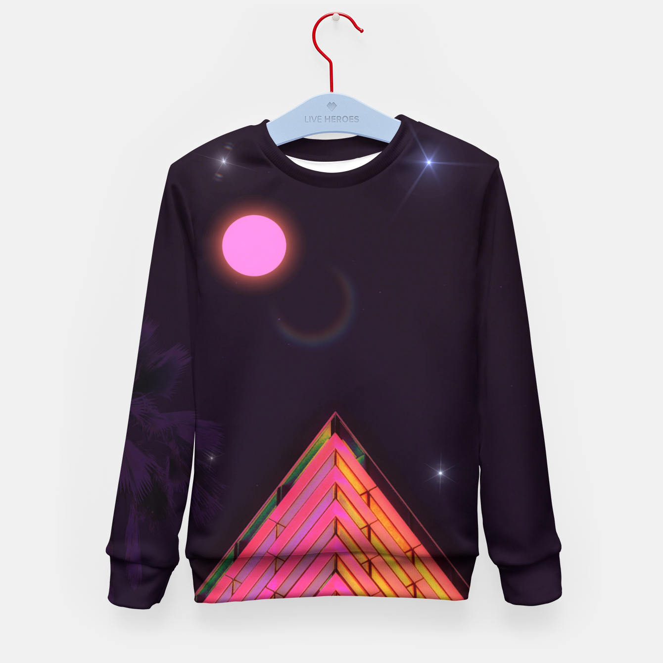 Zdjęcie Pink Night Kid's sweater - Live Heroes