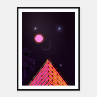 Pink Night Framed poster obraz miniatury