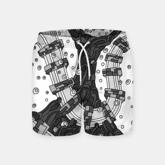 Thumbnail image of Wandering 02: grayscale Swim Shorts, Live Heroes
