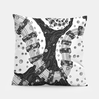 Thumbnail image of Wandering 02: grayscale Pillow, Live Heroes