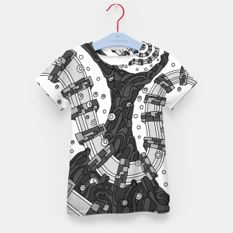 Thumbnail image of Wandering 02: grayscale Kid's t-shirt, Live Heroes