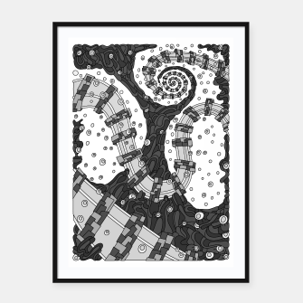 Miniatur Wandering 02: grayscale Framed poster, Live Heroes