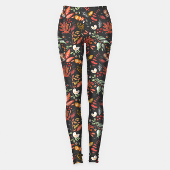 Christmas night lit I Leggings miniature