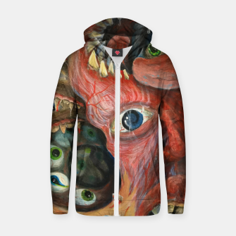 Thumbnail image of Digest Your-Self Zip up hoodie, Live Heroes