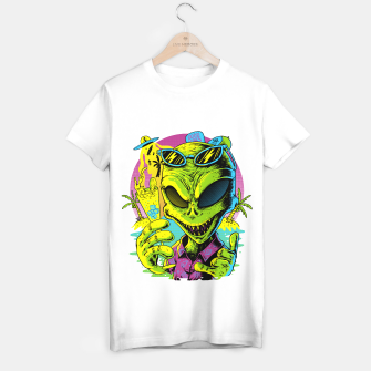 Miniatur Alien Summer Vibes T-shirt regular, Live Heroes