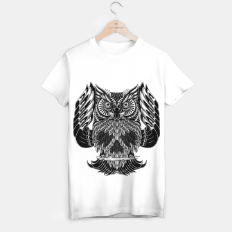 Miniatur Owl Skull Ornate T-shirt regular, Live Heroes