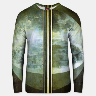 Fashion and decor items of Hieronymus Bosch painting The Creation of the World - The exterior shutters of The Garden of Earthly Delights Unisex sweater Bild der Miniatur